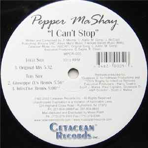 Pepper Mashay - I Can't Stop Album